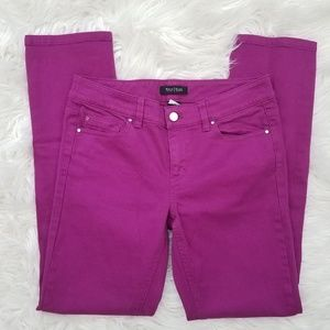 White House Black Market Purple Slim Ankle Jeans